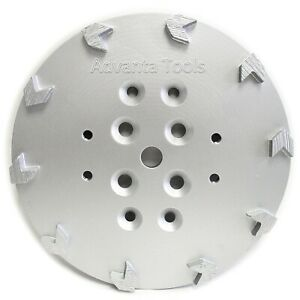 10 Concrete Grinding Head For Edco Blastrac Floor Grinders 10 Arrow Segments