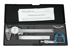 Dial Caliper Micrometer 6 Rule Machinist Case Brand New eg00 1035