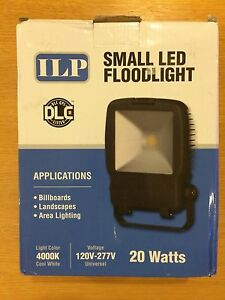 Ilp 20 Watts Small Led Floodlight With Yoke Mount 4000k 120 277v