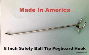 1000 Pack Usa Made 8 Inch Metal Peg Hooks for 1 8 1 4 Pegboard Or Slatwall