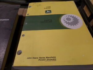 John Deere 3150 Tractor Parts Catalog Manual Pc4207