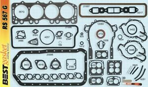 Buick Chevy Gmc 264 322 V8 Full Engine Gaskets Set kit Best 1953 59 Head intake