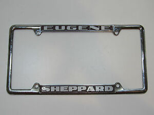 Chrome Metal License Plate Frame In Stock Replacement