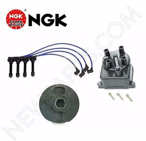 For Acura Integra B18b1 Ngk Blue Tune up Kit Cap Rotor Spark Plugs Wire Set Kit