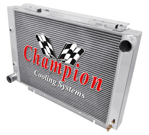 1960 1961 1962 1963 Ford Galaxie 500xl Champion 3 Row Aluminum Radiator Cc6063