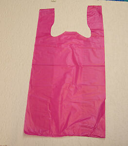 Plastic T shirt Bags With Handles You Pick Lot Colors Size
