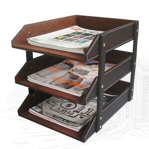 Richblue 3 Trays Office Desk File Organizer A4 Print Papers Magazine File Holder
