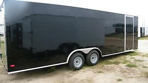 8 5x28 Enclosed Trailer Cargo Car Hauler V nose Utility Motorcycle 26 28 2018