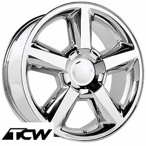 1 20 Inch 20x8 5 Chevy Tahoe Ltz 2007 Oe Replica 5308 Chrome Wheel Rim 31 Mm