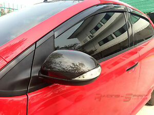 Real 3d Glossy Carbon Fiber Side Mirror Cover Cap For 07 14 Mazda2 De Mazdaspeed