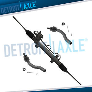 Complete Power Steering Rack And Pinion 2 New Outer Tie Rod Ends For Toyota