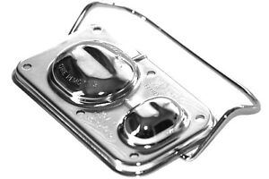 Chrome Master Cylinder Cover Steel Chevy Pontiac 3 X 5 5 8 Single Bail Gm 67 80