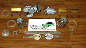 Lock Set Door Trunk Glove Box 16pc Kit Gm Key 69 Camaro Free Shipping Locks