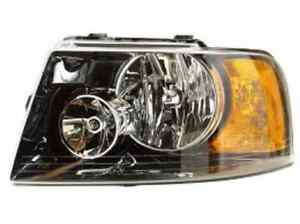 New Ford Expedition 2003 2004 2005 2006 Left Driver Headlight Black Housing