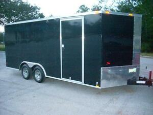 8 5x16 Enclosed Trailer Cargo V nose Tandem Utility Motorcycle Lawn 14 18 New