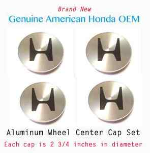 Genuine Oem Honda Aluminum Wheel Center Cap Set 4 44732 s87 a00