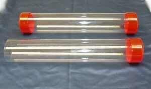 3 4 1 1 2 Clear Plastic Packing Storage shipping Tube W cap U pick Color Size