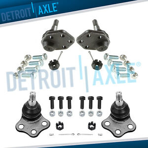 New 4 Front Upper Lower Ball Joints For 2000 2001 Dodge Ram 1500 Truck 2wd
