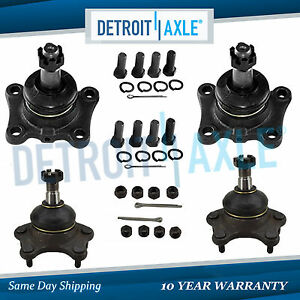 New Both 4 Front Upper Lower Ball Joints For Toyota T100 Pickup Runner 4wd