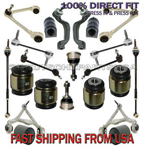Jaguar S Type Front Rear Control Arms Ball Joint Hydrabushes Suspension Kit 24