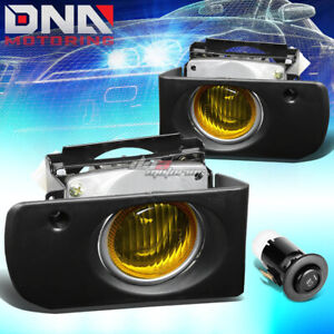 Jdm Dc2 Driving Projector Fog Light Lamp Kit For Acura Integra 94 97 Amber Wire