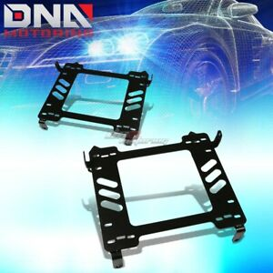 Pair Left right Racing Bucket Seat Mount Bracket For 06 11 Honda Civic 2dr 4dr