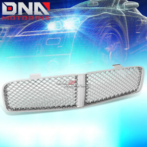 For 06 10 Dodge Charger Srt8 Lx Mesh Front Hood Bumper Chrome Grill grille Guard