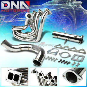 T4 Top mount Turbo Manifold downpipe Honda B series Civic Si Integra Dc2 Prelude