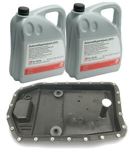 For Oem Zf Automatic Transmission Filter Kit Oil Pan With10 Liters Trani Fluid