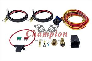 Champion Cooling 180 Degree 40amp Electric Fan Relay Kit Single Or Dual Fans Dr