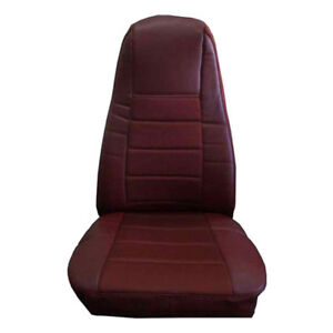 Truck Seat Cover W pocket Burgundy Faux Leather Peterbilt Freightliner