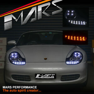Crystal Drl Led Projector Head Lights For Porsche Carerra 911 996 Boxster 986