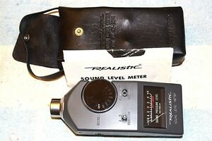 Realistic 42 3019 Analog Sound Level Meter 60 126 Db Fully Tested