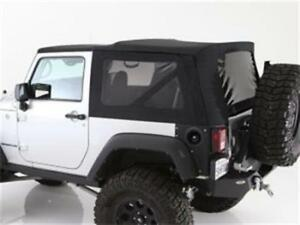 Premium 30oz Soft Top Tint Windows 9074235 2007 2009 For Jeep Wrangler 2 Door