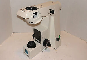 Zeiss Axioskop Microscope Base Stand In Working Condition For Parts