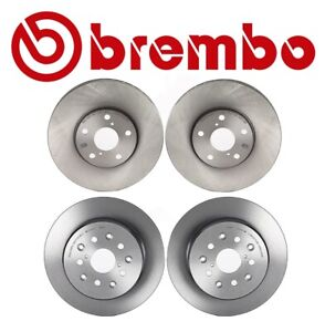 Set Of 4 Brembo Brake Rotors 2 front 2rear For Gs300 Gs400 Gs430 Is300 Sc430
