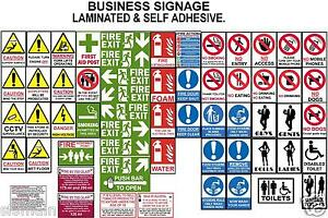 Signs 4 Business Premises Health Safety Fire Hygiene Warning Caution No Smoking