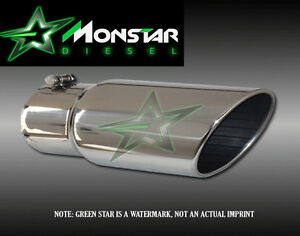5 Inlet 12 Outlet 18 Long Stainless Steel Rolled Angle Diesel Exhaust Tip
