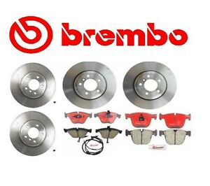 Complete Front Rear Brake Rotors Pads Kit Brembo Bmw 750 750li 760i 760li