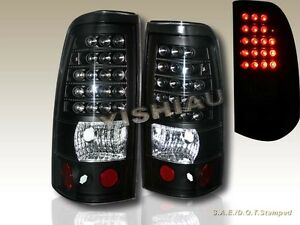 2003 2006 Chevy Silverado 2004 2006 Gmc Sierra 1500 2500 Black Tail Lights Led