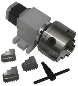 Cnc 1700 Router Rotational Axis 4th Axis a Axis 3 jaw With K11 100mm Chuck 1700