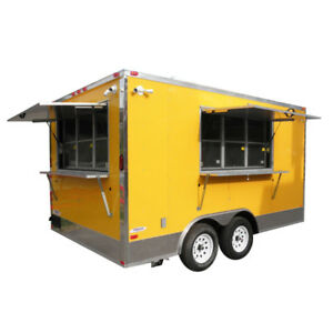 Concession Trailer 8 5 x14 Yellow Vending Food Catering Event