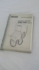 Maho Geometric Package Cnc 432 Graphics Operating Instruction