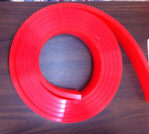 6 Ft feet Roll 60 Duro Durometer Silk Screen Printing Squeegee Blade Red