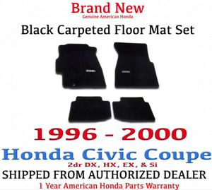 Genuine Oem Honda Civic 2dr Black Carpeted Floor Mat Set 96 00 08p15 s02 110b