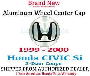 Genuine Oem Honda Civic 2dr Aluminum Wheel H Center Cap