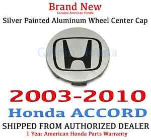 2003 2010 Honda Accord Genuine Oem Silver Painted Aluminum Wheel Center Cap