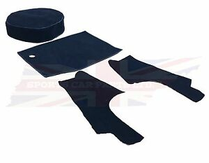 New 4 Piece Trunk Boot Black Carpet Kit For Mgb 1963 80 Roadster Made In Uk