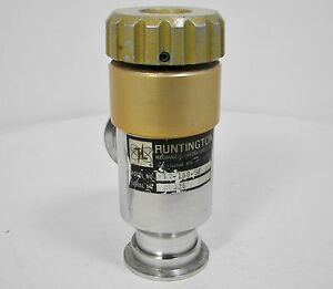 Huntington High Vacuum Research Chamber Right Angel Manual Shut off Valve Kf40