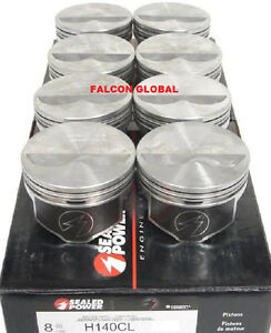 Speed Pro Chevy 350 Flat Top Hypereutectic 2vr Pistons Set 8 For 6 0 Rods 060